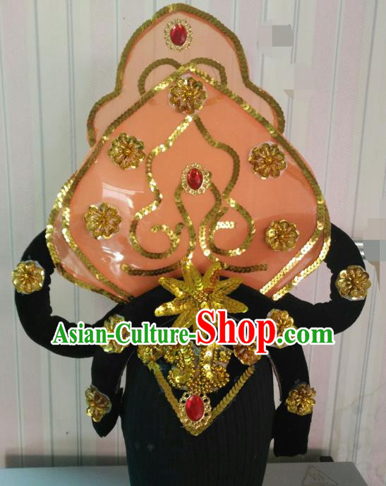 Chinese Classical Dance Hair Accessories Traditional Dunhuang Flying Apsaras Folk Dance Headwear for Women