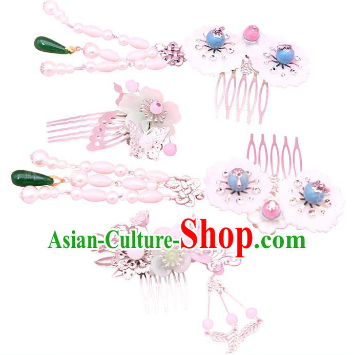 Chinese Ancient Hair Accessories Hanfu Hair Comb Traditional Hairpins Headwear for Women