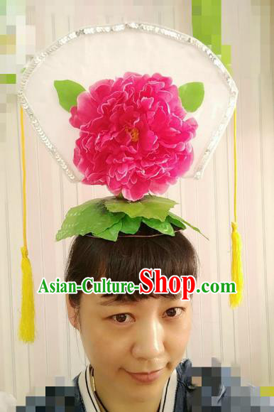 Chinese Ancient Palace Lady Hair Accessories Traditional Folk Dance Yanko Dance Hats Headwear for Women