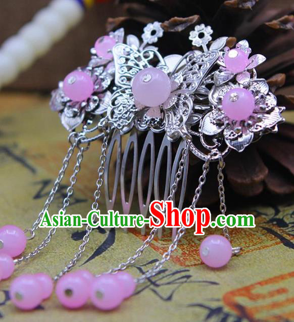 Chinese Ancient Hair Accessories Hanfu Hairpins Traditional Butterfly Hair Comb Headwear for Women