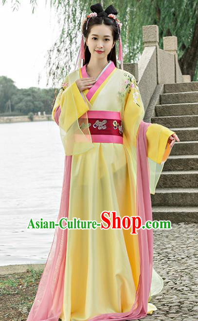 Traditional Chinese Ancient Palace Princess Costume Song Dynasty Swordswoman Hanfu Dress for Women