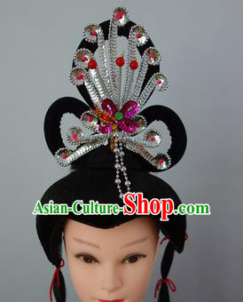 Chinese Traditional Folk Dance Hair Accessories Classical Dance Beijing Opera Actress Headwear for Women