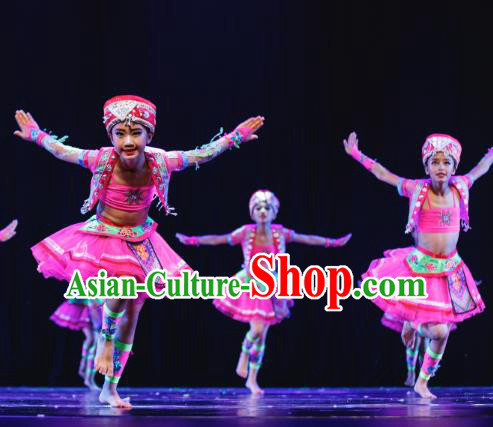 Traditional Chinese Mongolian Minority Folk Dance Costume, Children Classical Dance Ethnic Dress Clothing for Kids