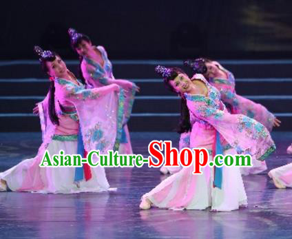 Traditional Chinese Classical Dance Costume, China Stage Performance Ancient Dress Clothing for Women