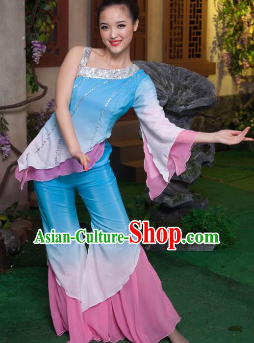 Traditional Chinese Folk Dance Classical Dance Costume, China Stage Performance Dress Clothing for Women