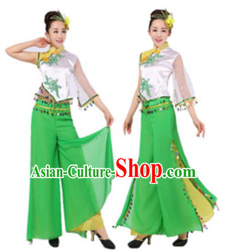 Chinese Traditional Folk Dance Classical Dance Costume, China Yangko Dance Clothing for Women