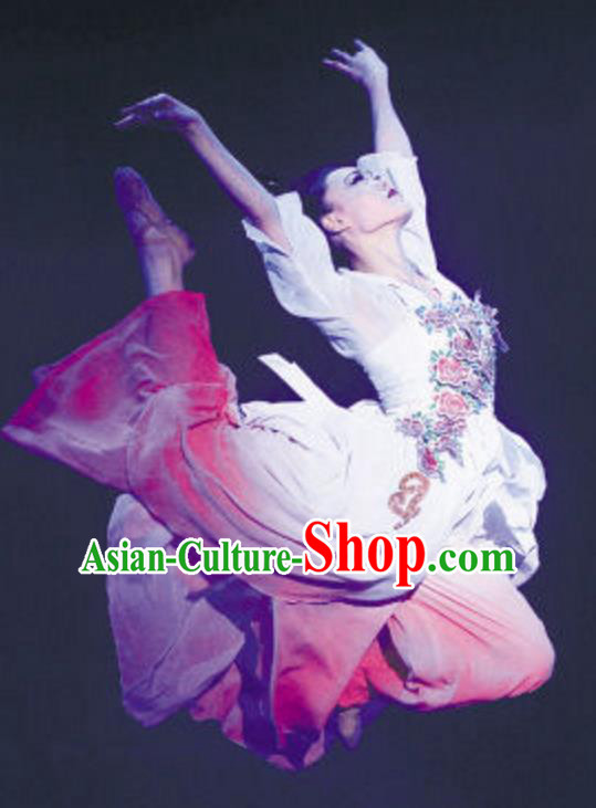 Traditional Chinese Classical Dance Costume, China Folk Dance Umbrella Dance Dress Clothing for Women