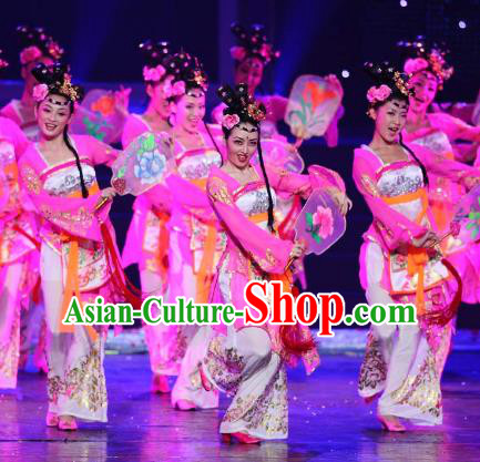 Chinese Traditional Folk Dance Costume, China Classical Dance Hanfu Dress Stage Performance Clothing for Women
