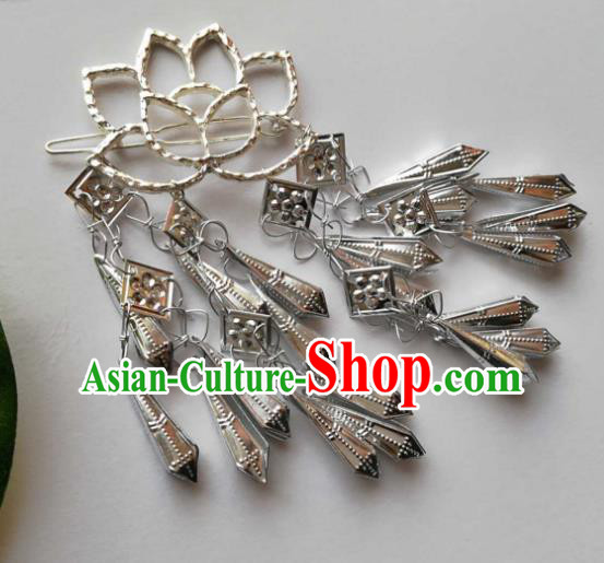 Chinese Traditional Ancient Hair Accessories Classical Bells Tassel Hair Stick Hanfu Hairpins for Women