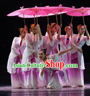 Traditional Chinese Fan Dance Costume, China Folk Dance Classical Dance Dress for Women