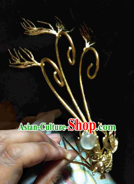 Chinese Traditional Ancient Hair Accessories Classical Hairpins Antlers Hair Stick Headwear for Women