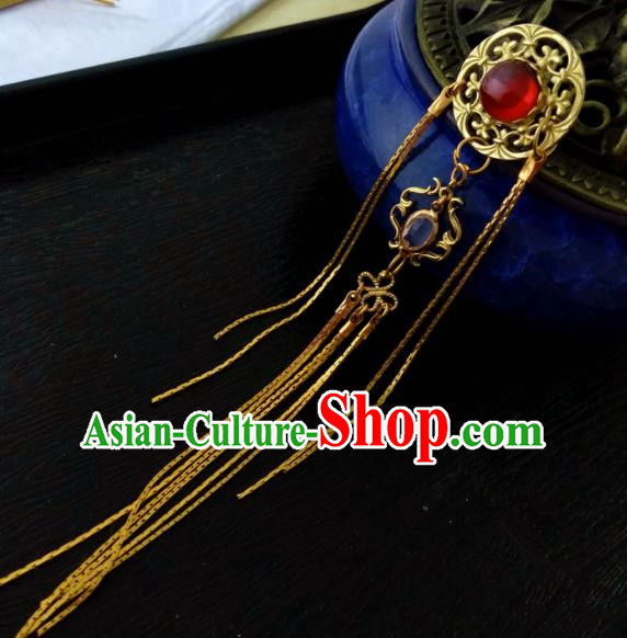 Chinese Traditional Ancient Hair Accessories Classical Brass Hairpins Hanfu Hair Stick for Women