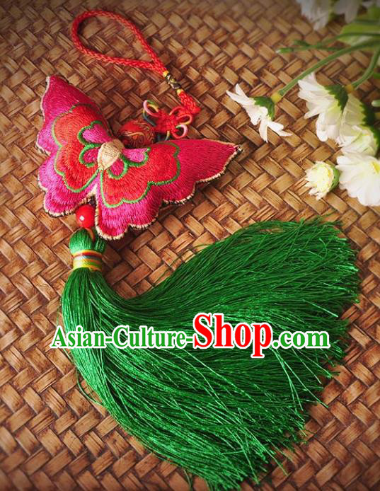 Chinese Traditional Embroidery Accessories Handmade Embroidered Butterfly Pendant for Women