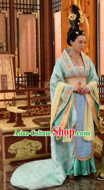 Chinese Ancient Palace Lady Trailing Hanfu Dress Tang Dynasty Imperial Princess Taiping Embroidered Costumes for Women