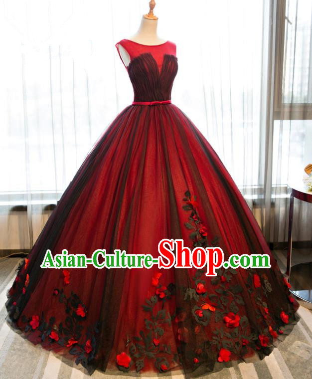 Top Grade Advanced Customization Wedding Dress Chorus Compere Dress Bridal Veil Full Dress Costume for Women