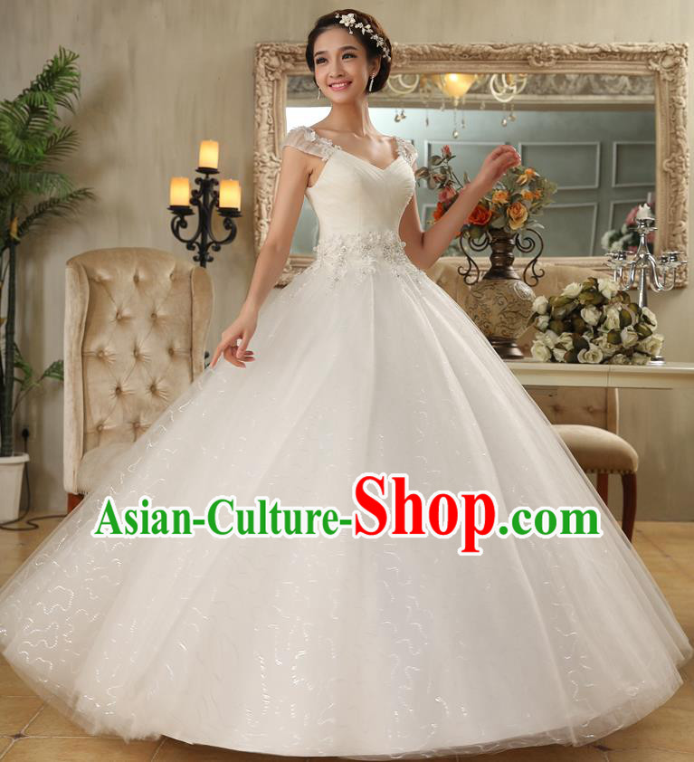Top Grade Advanced Customization Wedding Dress Bridal Veil Cocktail Dress Princess Dress Wedding Gown Costume for Women