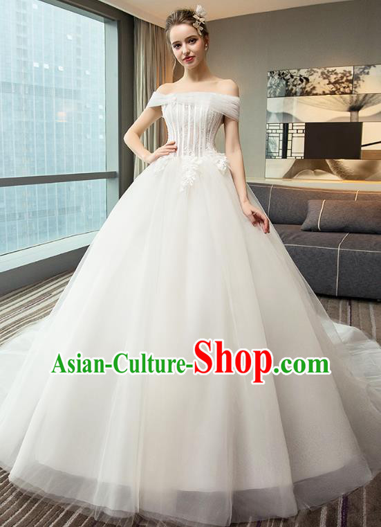 Top Grade Advanced Customization Evening Dress Mullet Wedding Dress Compere Bridal Full Dress for Women