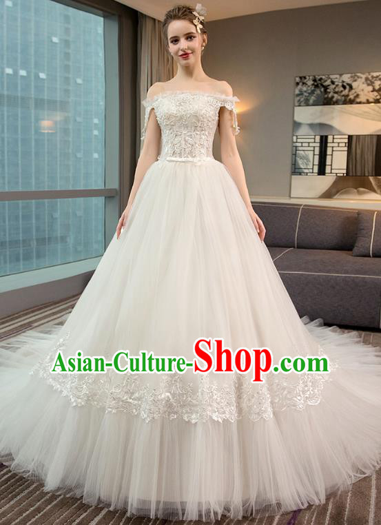 Top Grade Wedding Costume Evening Dress Advanced Customization Mullet Dress Compere Bridal Full Dress for Women