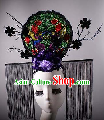 Top Grade China Traditional Palace Hair Accessories Halloween Royal Crown Stage Performance Modern Fancywork Headwear
