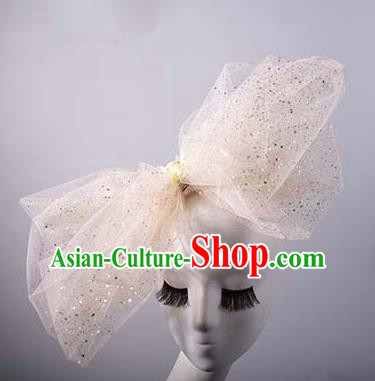 Top Grade Catwalks Hair Accessories Halloween Catwalks Bowknot Stage Performance Modern Fancywork Headwear