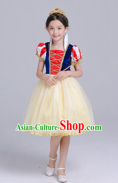Top Grade Chorus Costumes Stage Performance Snow Princess Dress Children Modern Dance Clothing for Kids