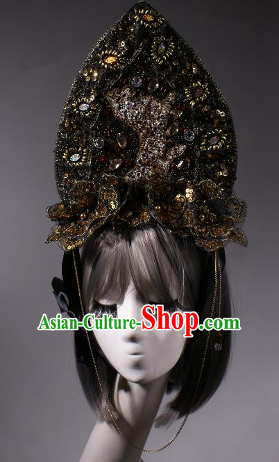 Top Grade Halloween Queen Hair Accessories Stage Performance Modern Fancywork Headwear Hair Crown