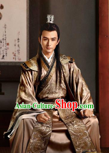 Tribes and Empires Storm of Prophecy Chinese Ancient Prince Embroidered Costumes for Men