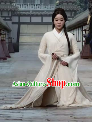 Chinese Teleplay Tribes and Empires Storm of Prophecy Ancient Palace Lady Embroidered Costumes for Women