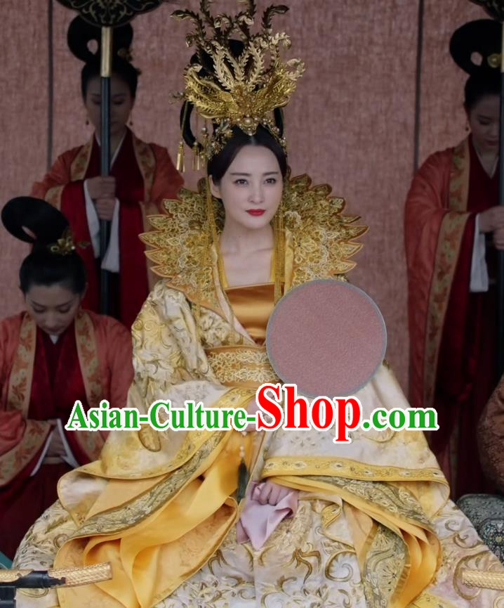 Teleplay Tribes and Empires Storm of Prophecy Chinese Ancient Imperial Empress Embroidered Costumes and Headpiece Complete Set