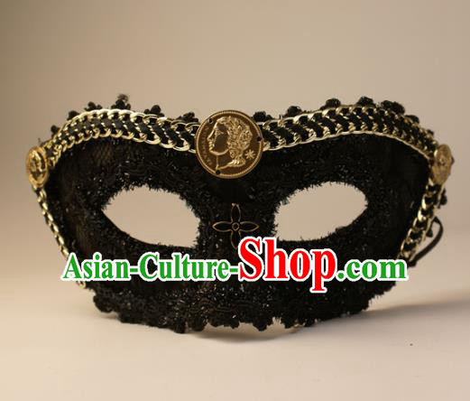 Halloween Exaggerated Lace Face Mask Fancy Ball Props Stage Performance Accessories Christmas Mysterious Punk Masks