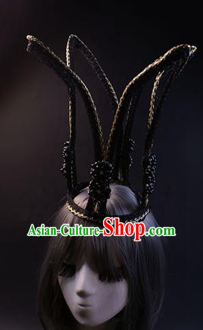 Top Grade Catwalks Queen Hair Accessories Halloween Baroque Royal Crown Stage Performance Modern Fancywork Headwear