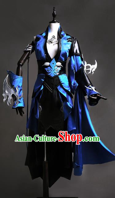 China Ancient Swordsman Costume Chinese Traditional Knight-errant Clothing for Men