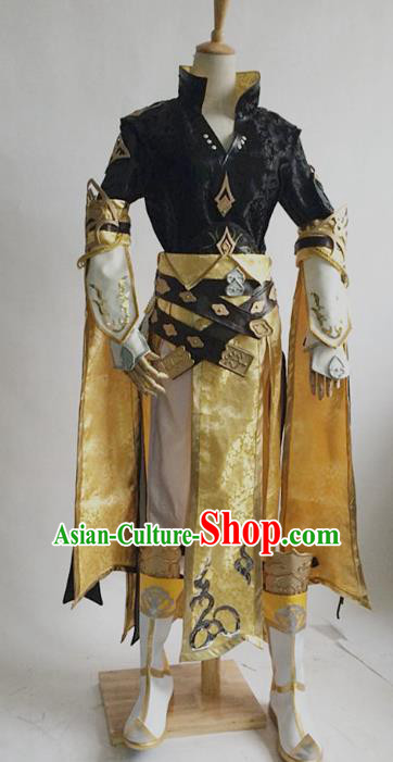 China Ancient Cosplay Childe Swordsman Costumes Chinese Traditional Knight-errant Clothing for Men