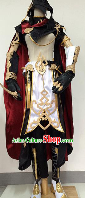 Traditional China Ancient Cosplay Swordsman Costumes Complete Set Chinese Knight-errant Clothing for Men