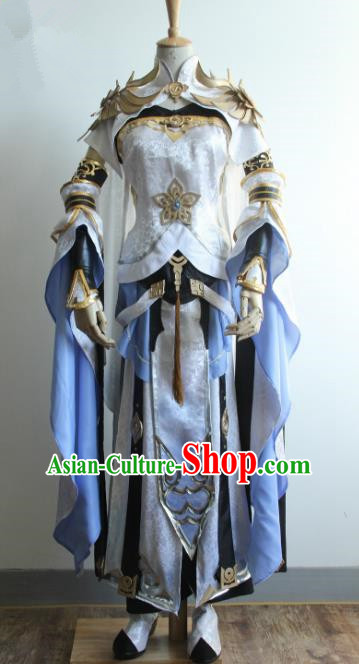 China Ancient Cosplay Taoist Nun Costumes Chinese Traditional Swordsman Warriors Knight-errant Clothing for Women