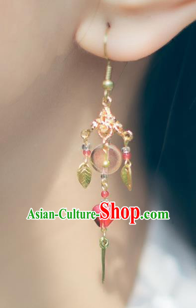 China Ancient Palace Accessories Classical Earrings Chinese Traditional Jewelry Hanfu Eardrop for Women