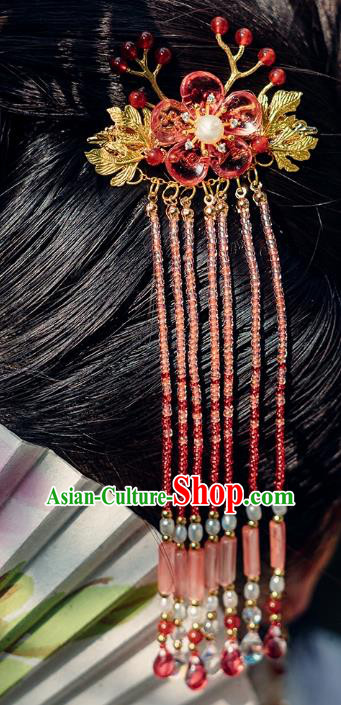 China Ancient Hair Accessories Hanfu Tassel Hair Claw Chinese Classical Hairpins for Women