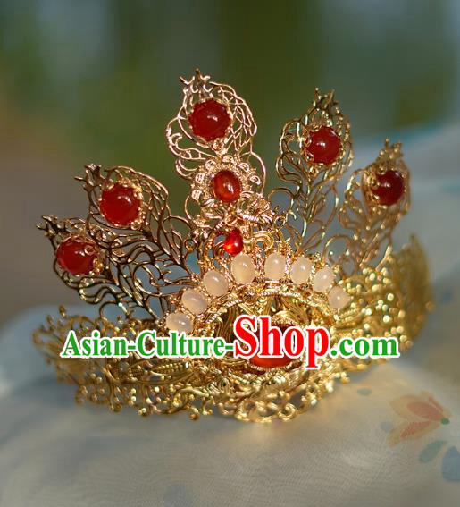 China Ancient Hair Accessories Hanfu Golden Tuinga Hair Crown Chinese Classical Hairpins for Women