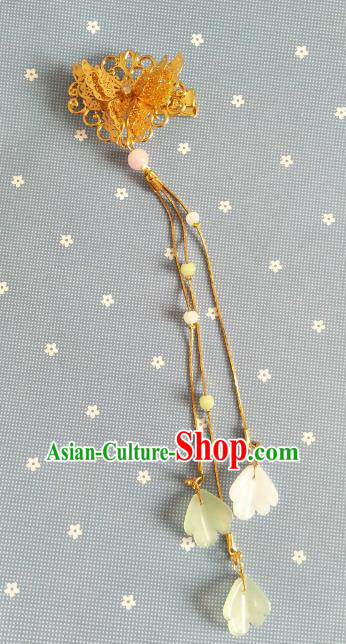China Ancient Hair Accessories Hanfu Princess Golden Butterfly Hair Claw Chinese Classical Hairpins for Women