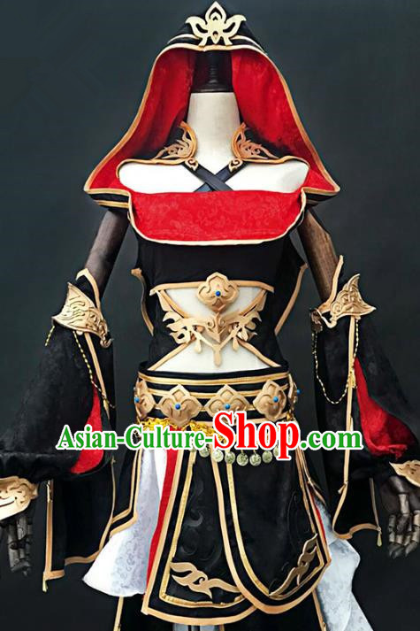 China Ancient Cosplay Female Swordsman Costumes Chinese Traditional Young Lady Knight-errant Clothing for Women