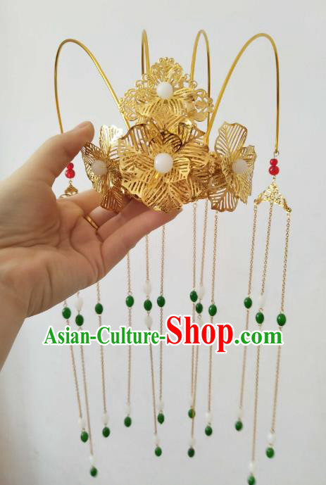 China Ancient Hair Accessories Hanfu Princess Phoenix Coronet Tassel Hair Clips Chinese Classical Hairpins for Women