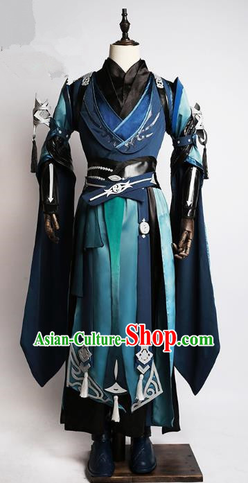 China Traditional Cosplay Taoist Swordsman Costumes Chinese Ancient Kawaler Knight-errant Clothing for Men