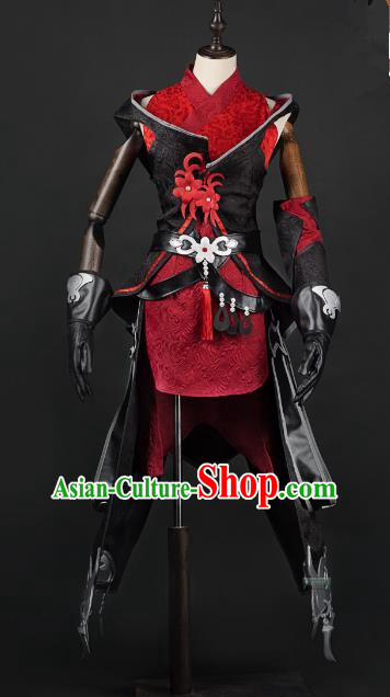China Ancient Cosplay Young Lady Knight-errant Costumes Chinese Traditional Princess Swordsman Clothing for Women