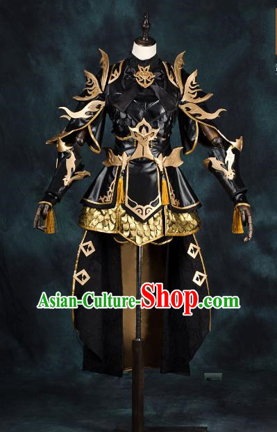 China Ancient Cosplay Young Lady Armour Knight-errant Costumes Chinese Traditional Swordsman Clothing for Women