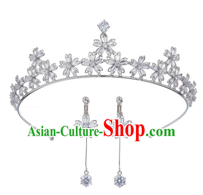 Baroque Bride Hair Accessories Classical Zircon Royal Crown Princess Imperial Crown Headwear for Women
