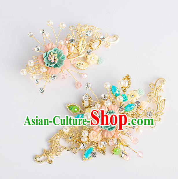 Chinese Ancient Bride Hair Accessories Xiuhe Suit Hairpins Hair Sticks for Women