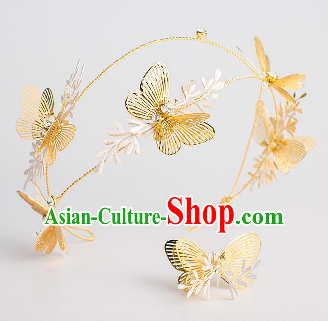 Bride Hair Accessories Wedding Butterfly Hair Clasp Headwear for Women