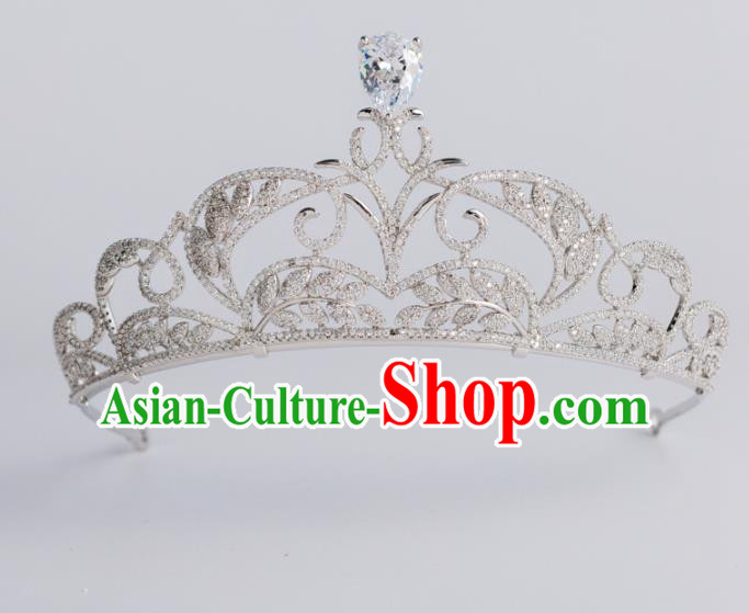 Baroque Bride Hair Accessories Classical Royal Crown Princess Imperial Crown Headwear for Women