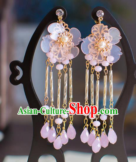 Bride Classical Accessories Pearls Earrings Wedding Jewelry Tassel Eardrop for Women