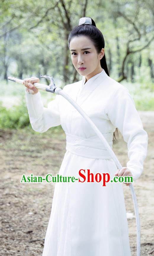 Legend Of Fu Yao Chinese Ancient Swordswoman Heroine Historical Costume for Women